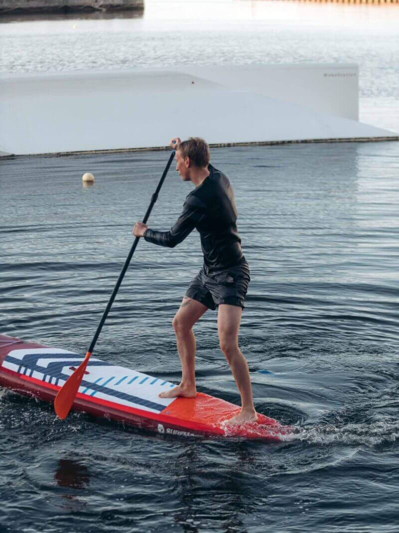 Sup board - oppustelig sup - Touring 11'6 x 31 x 6 - Surfmore - Rød - 2
