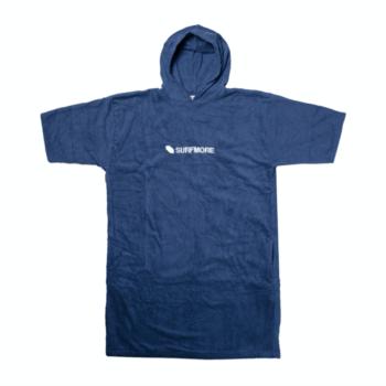 Håndklæde poncho voksne - Surfmore - Blå