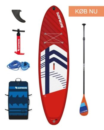 Sup board - oppustelig sup - Surfmore - Allround-Family-Edition-11'2-x-33-RØD