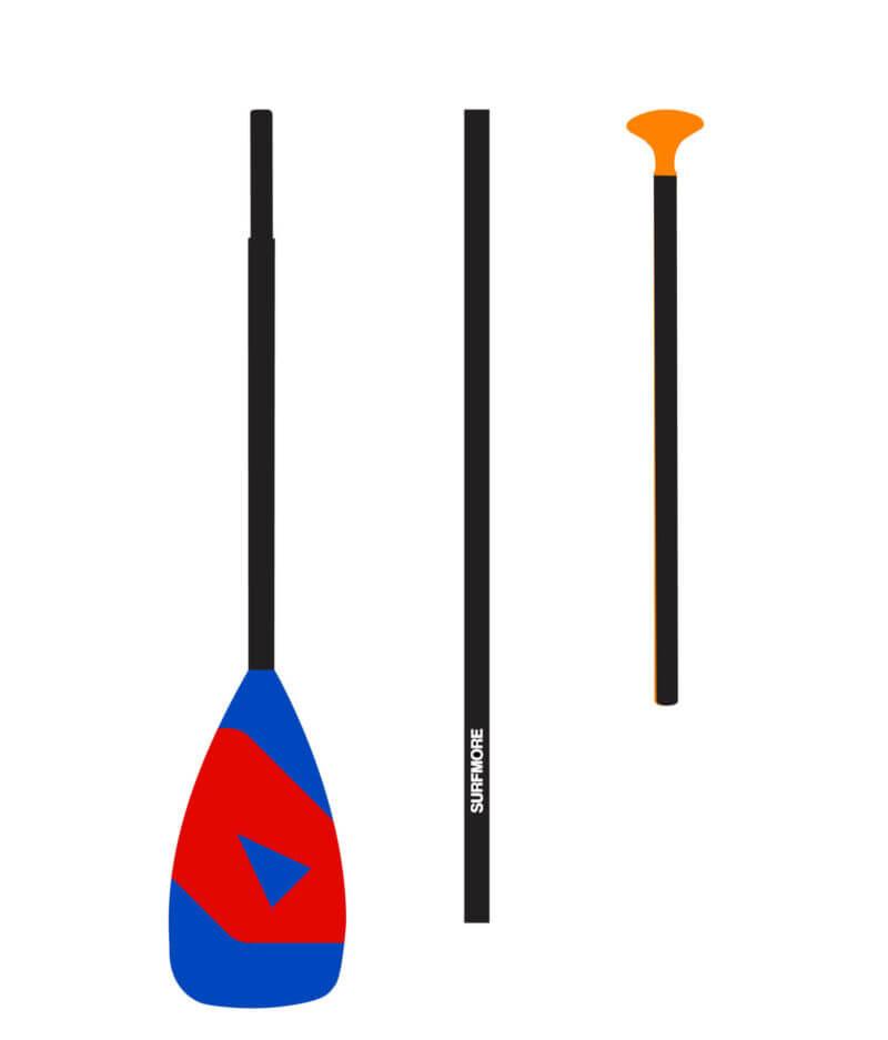 Sup paddle - Paddle til sup - Kulfiber - 3-delt - Surfmore -1