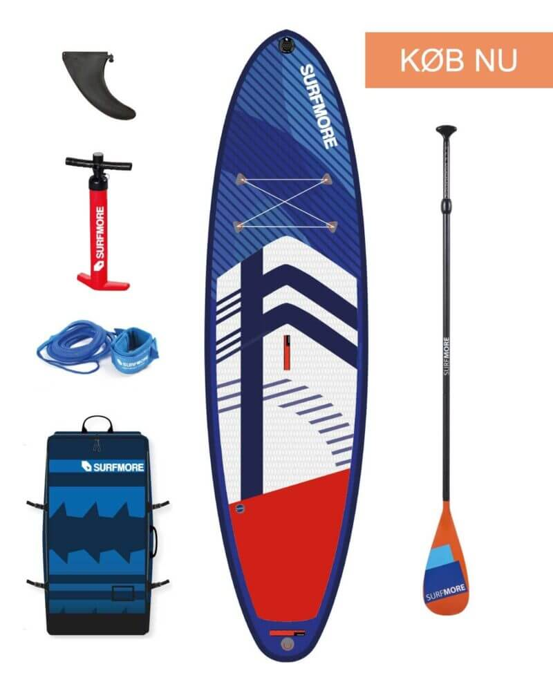 sup board - oppustelig sup - Surfmore -all round family edition - Blå