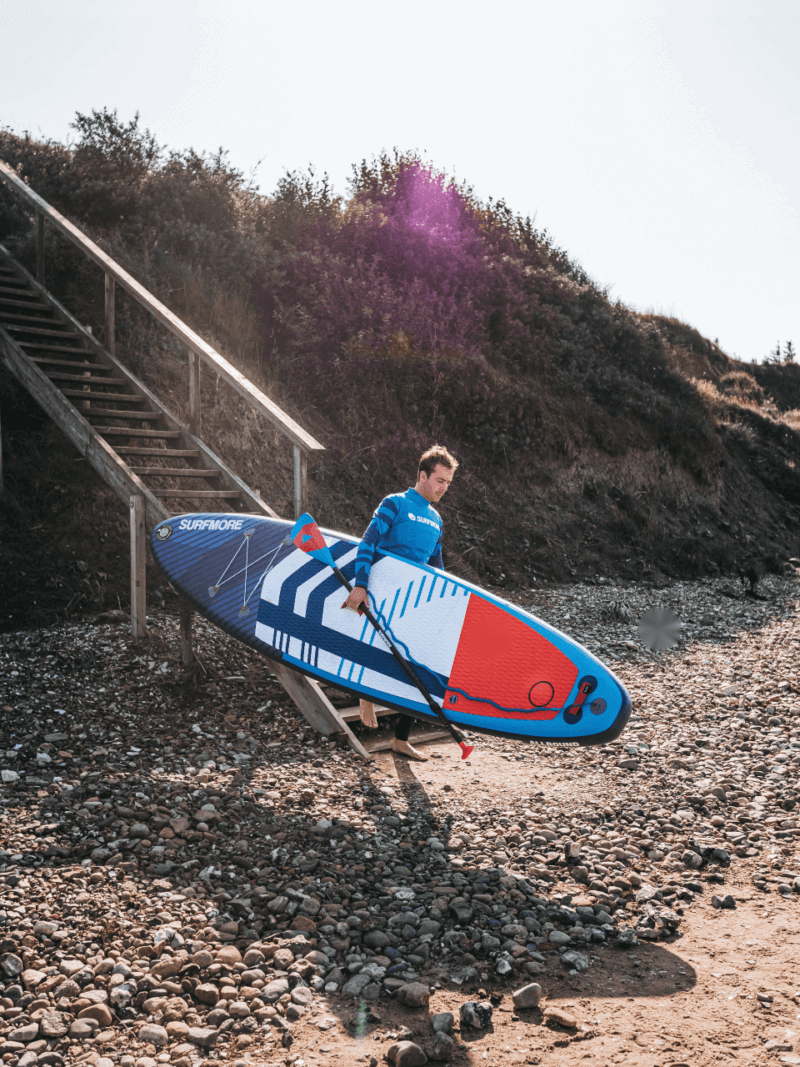 sup board - oppustelig sup - Surfmore - all round family edition - blå 1